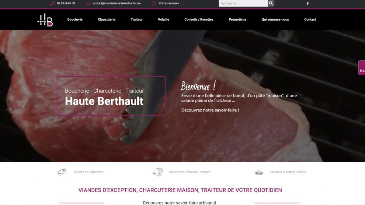 Site e-commerce – Réservation de plats du jour – Boucherie haute berthault