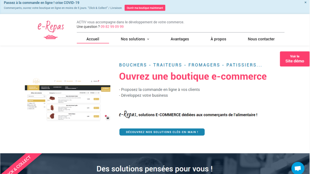e-Repas votre solution de vente en ligne – site e-commerce