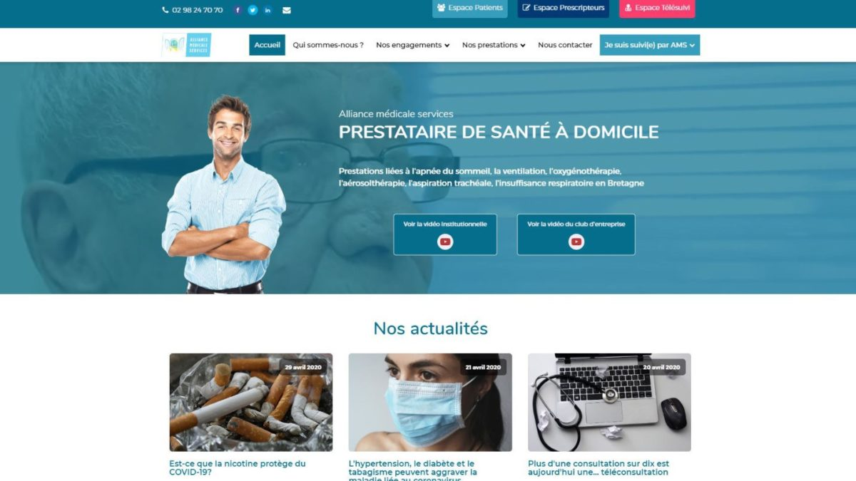 Refonte de site internet – Alliance Médicale Services